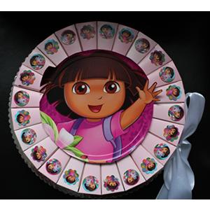 Dora Explorer traktatietaart 24 puntjes