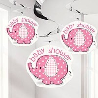 Umbrellaphants roze swirls 3 stuks