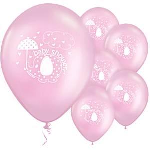 Umbrellaphants roze ballonnen 8 stuks