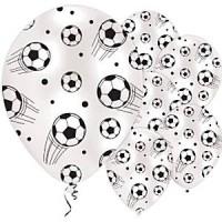 Voetbal ballonnen 23 cm 6 stuks