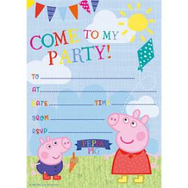 Peppa Pig uitnodigingen 20 stuks