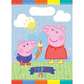 Peppa Pig uitdeelzakjes (8 stuks)